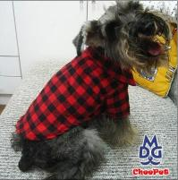 Flannel Wool Blended Red Plaid Dog Shirts Pet Dog Clothes ...