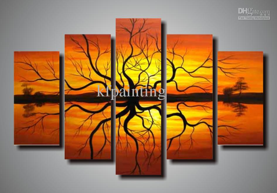 100 Hand Painted Abstract Painting Wall Art Canvas Home
