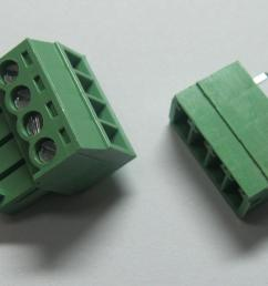 4pin way pitch 3 5mm screw terminal block connector green color t type with pin [ 1469 x 982 Pixel ]