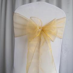 Chair Covers Material Replacement Wood Legs 2018 ! Gold Organza Sashes Wedding Party Decorations From Angusyu, $29.29 | Dhgate.com