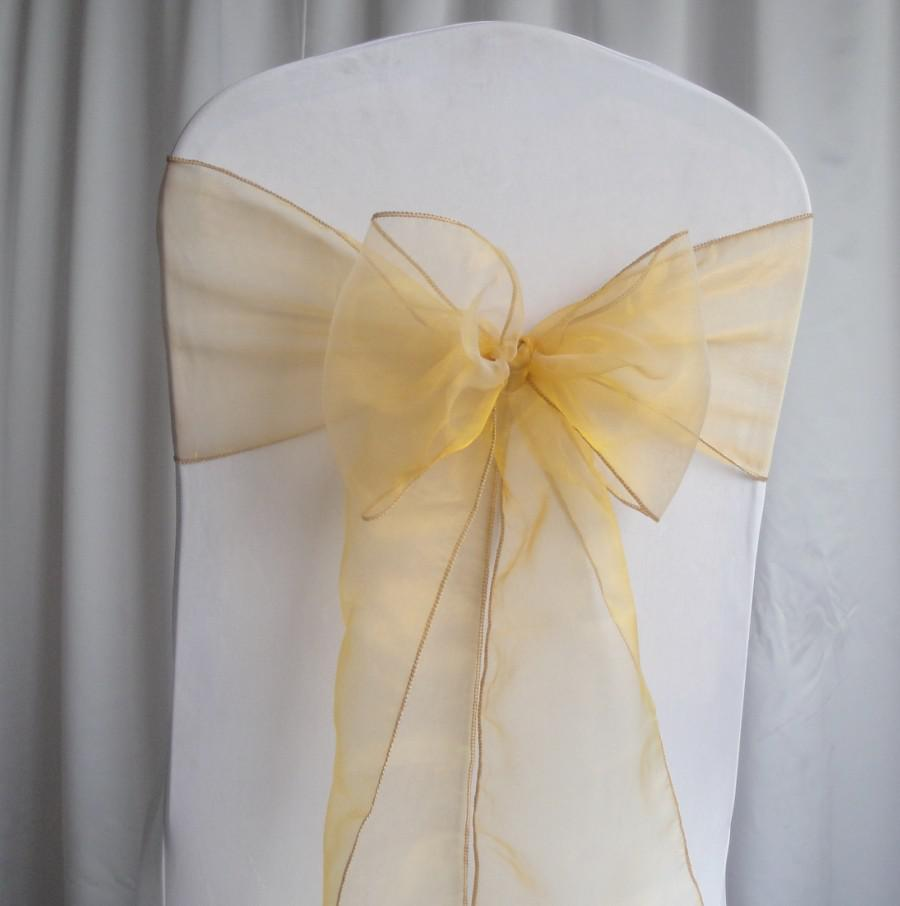 wholesale chair covers lycra nz 2018 ! gold organza sashes wedding party decorations from angusyu, $29.29 | dhgate.com