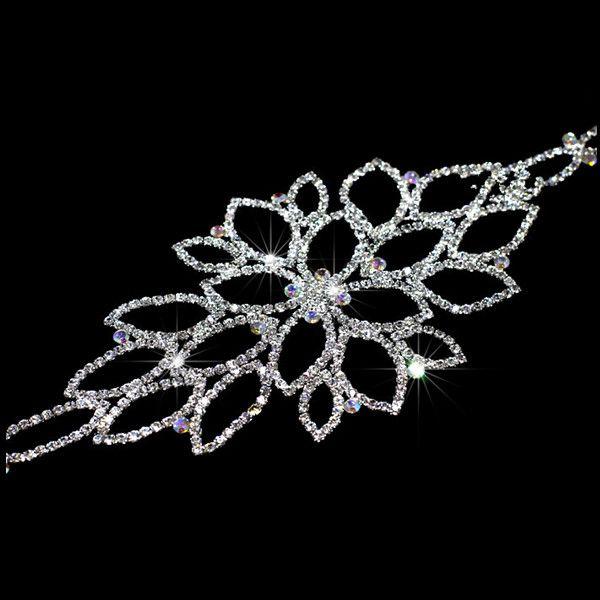Rhinestone Bridal Hairband Also Can Use As Garter Belt