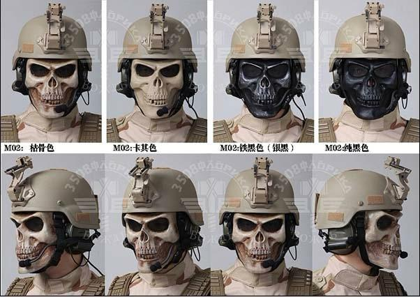 EMS Soldiers Mask Soldiers Mask Death Skull Bone Airsoft Full Face Protect Safety Mask Party