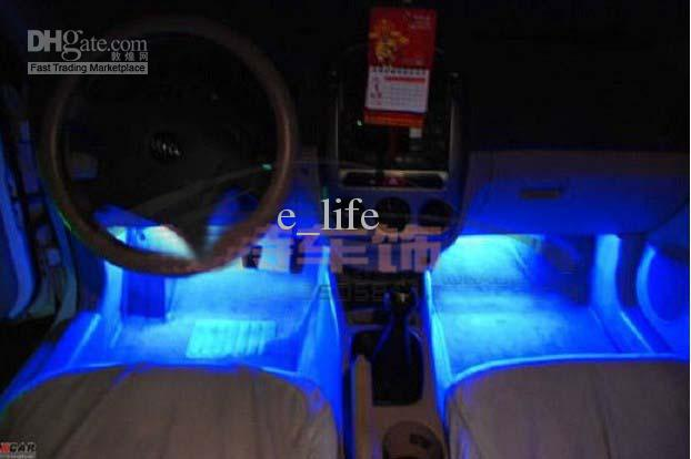 Led Ambient Lighting Atmosphere Within The Automotive