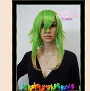 shaggy layered ecto green short