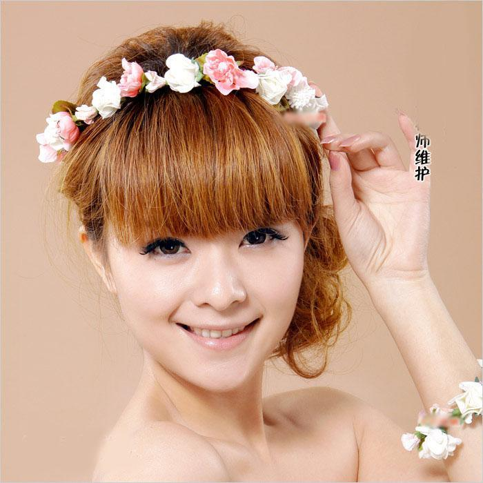 Bridal Garland Flower Hair Wrist Flower A0098 Bridal Head