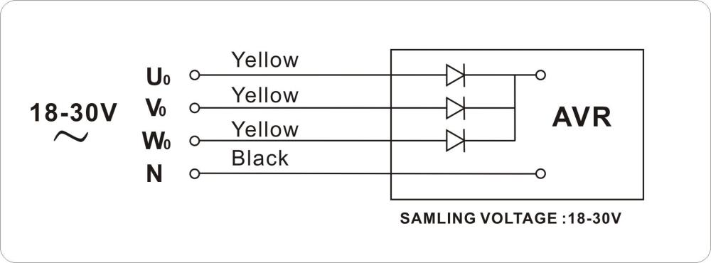 medium resolution of yamada 5 7kw three phase avr for generator three phase generator 5kw avr diagram 5kw avr diagram
