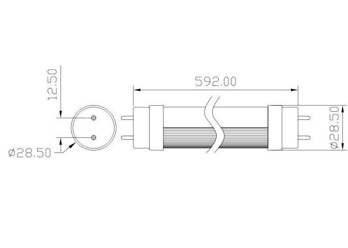 Best Selling!T8 LED Tube Light Bulb 2 Foot 600mm 9W 900lm
