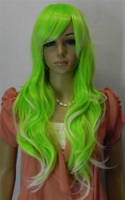 hot light green long curly
