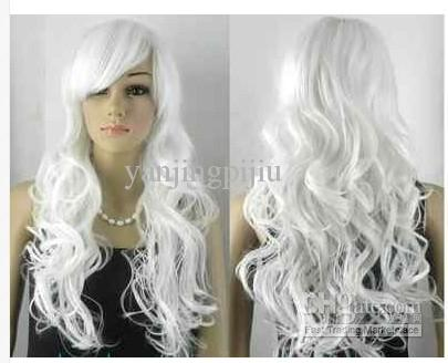 stylish long wavy white women hair wig 15 65 dhgate