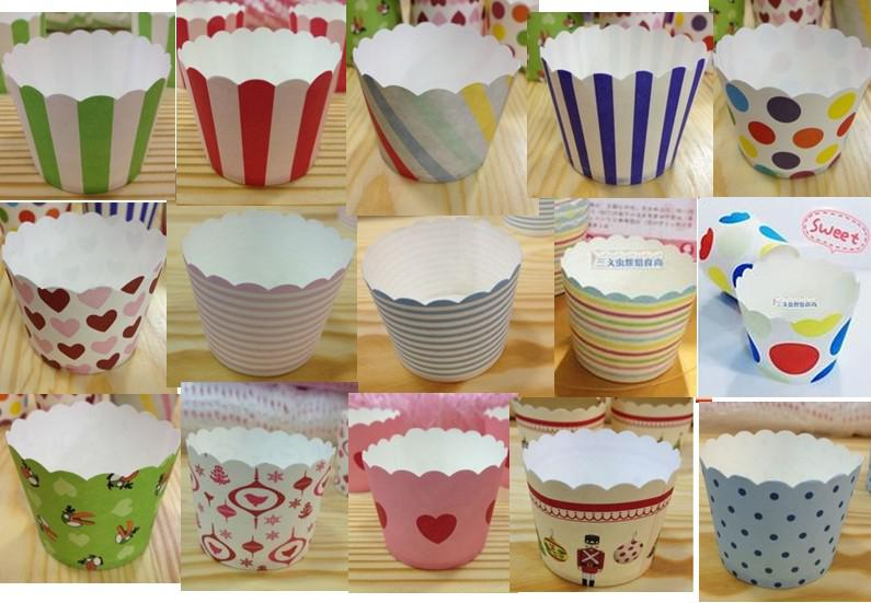 Round Bucket Paper Cake Cups, MUFFIN CUPCAKE CASES, Bake