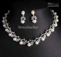 Hign Quality Unique Tyle Crystal And Pearl Bridal Necklace ...