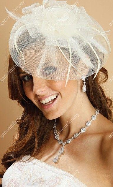Spring 2015 Ivory Birdcage Veils Bridal Veil Hats With