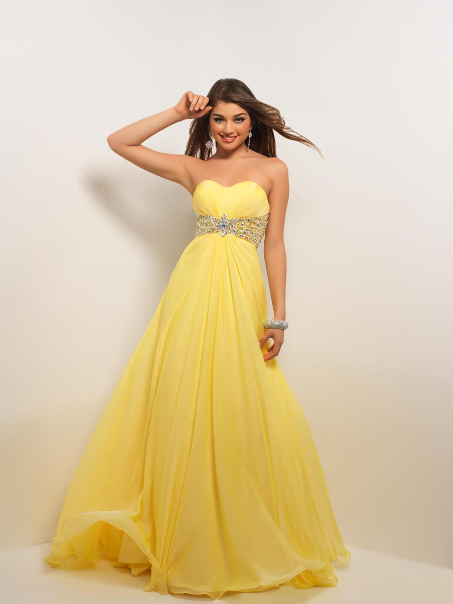 Beaded Pastel EleganceSexy Sweetheart Strapless Yellow