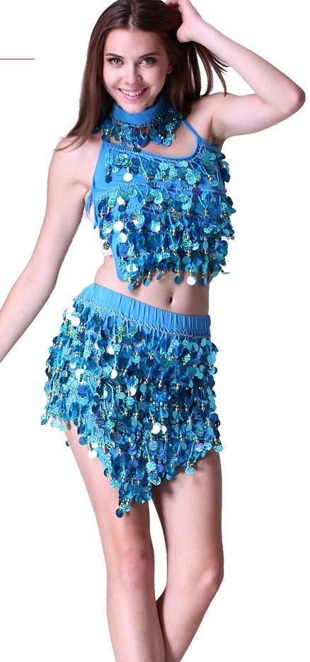 2019 Adult Latin Dancing Dresses Tinseled Rumba Samba