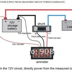 Solar Panel System Wiring Diagram Flow Utility Design 2019 Dc Ammeter 0 50a With Shunt Resistor Mini Amp Meters Red/blue/green Led Hk Airma From ...