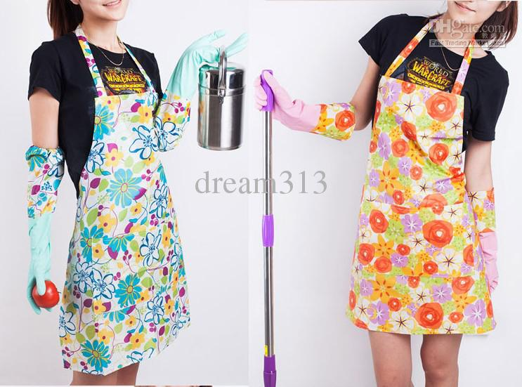 kitchen aprons coloured small appliances pvc home apron pastoral style craft commercial restaurant bib pinafore online with 96 18 piece on dream313 s