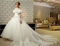 Cheap Off-the-Shoulder Ball Gown Wedding Dress Puff ...