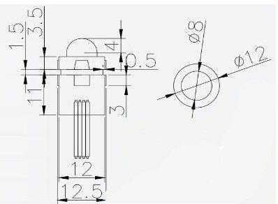 Full Colour Ws2801 12mm Led Pixel Module ,Advertising Lamp