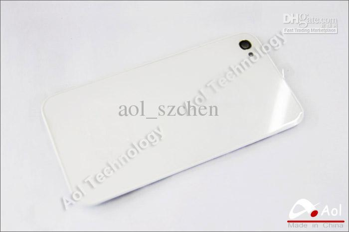 2019 White/Black Color For Iphone 4 4S Back Glass Battery