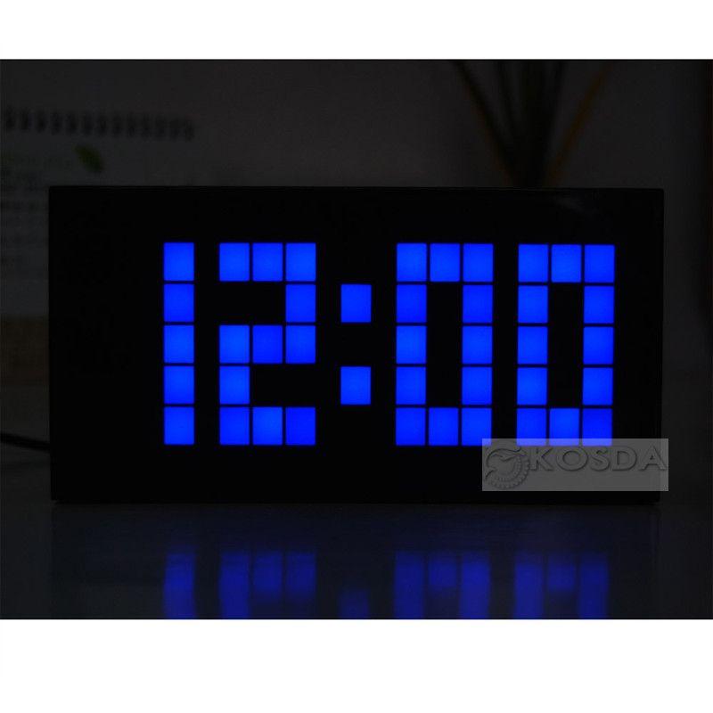 Large Jumbo LED Alarm Clock Display Wall LED Digital