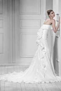 2013 Latest High Fashion Stylish White Charmeuse Satin