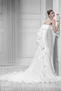 2013 Latest High Fashion Stylish White Charmeuse Satin ...