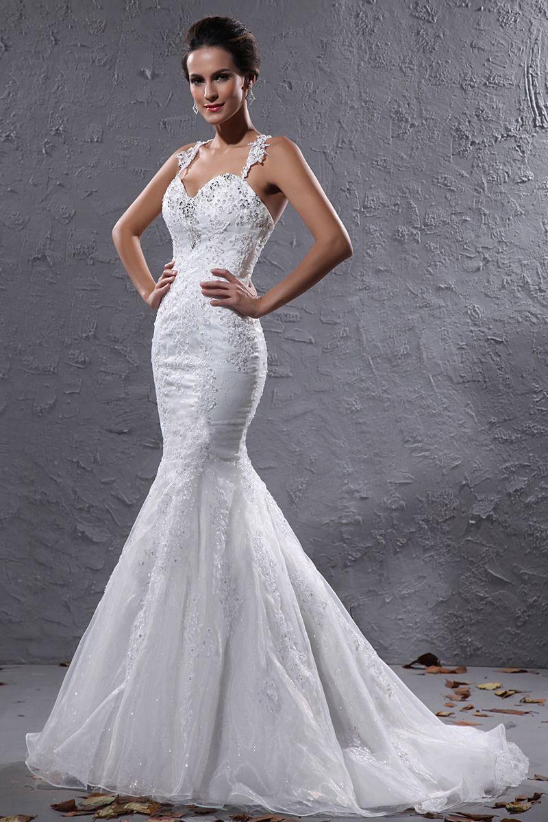 Discount Brand New Mermaid Halter Sheer Bodice Wedding Bridal Gown Long Sleeve Wedding Dresses