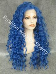extra long #t4043 blue curly