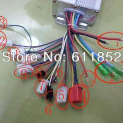 Brushless Motor Wiring Diagram Colour Codes Ford Radio Wire Harness Color 2018 48v 350w Bldc Controller E Bike Speed From Ebddc, $23.56 ...