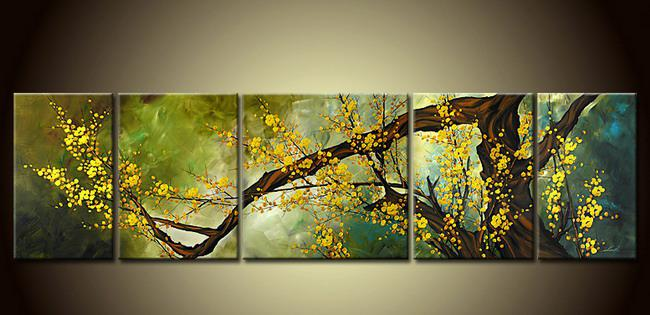 Hot Sales!5pc Pieces Large Modern Abstract Art Oil