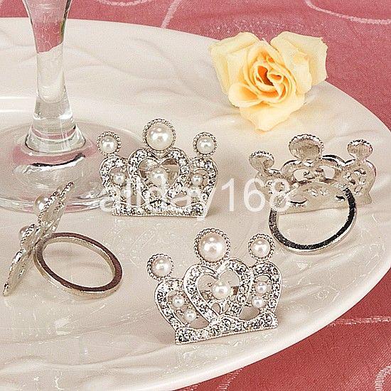 Wedding Decorations Wedding Favors Silver Imperial Crown Napkin Rings Wedding Bridal Shower