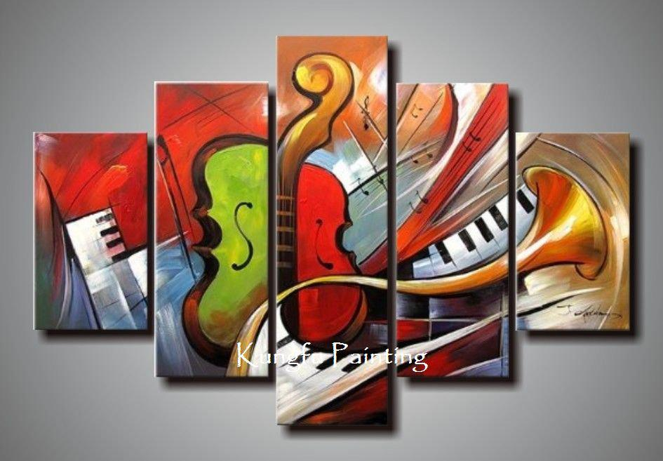 Holiday Sale 100 Hand Painted Discount Abstract Music Paintings