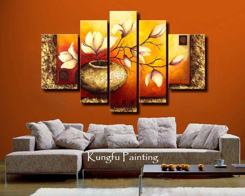 cheap 2 piece living room sets best neutral paint colors for uk online 100% hand painted unframed abstract 5 panel ...