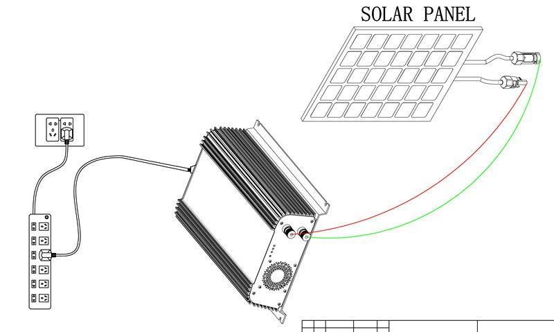 1000W Grid Tie Inverter SUN 1000G,46Hz ~ 65Hz 22v 60v