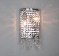 Modern Crystal Wall Lamp Mirror Light Bathroom ...