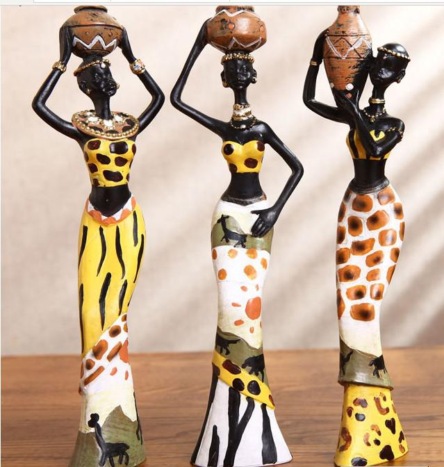 wedding chair covers wholesale china office deals exotic african woman resin decoration character ornaments handmade soft furnishings ...