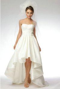 Short Front Long Back Beach Wedding Dresses 2013 Online ...