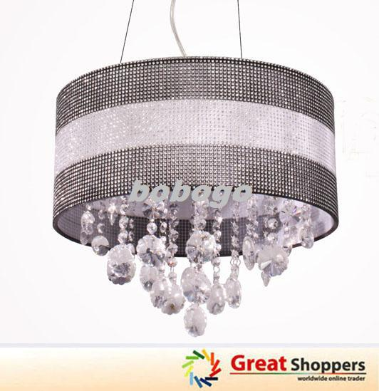 New Modern Bling Shade Crystal LED Ceiling Light Pendant