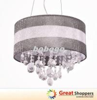 New Modern Bling Shade Crystal LED Ceiling Light Pendant ...