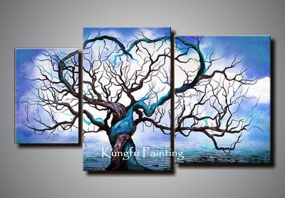 2019 100% Handmade Wall Art Canvas Origin Of Life In Blue