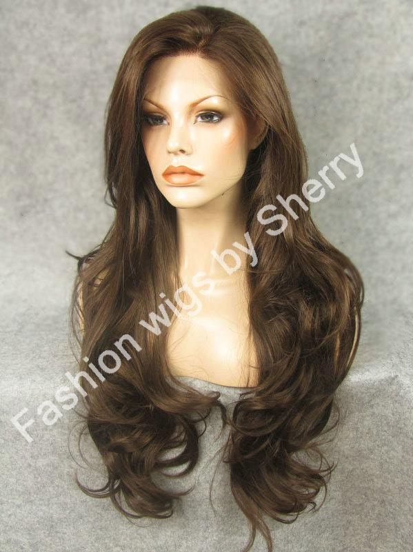 26 Extra Long 68 Mix Brown Wavy Heat Safe Synthetic Hair