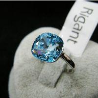 Wedding Ring,18k Gold Plated Swarovski Crystal Finger ...
