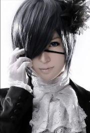 anime short black gray cosplay