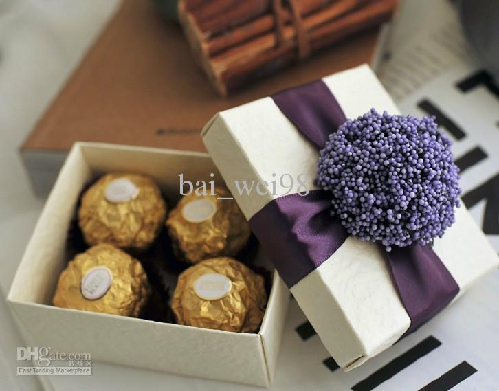 New Arrival!! Purple Lavender Wedding Favors Candy Box
