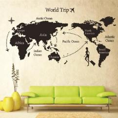 Wall Stickers Living Room Rustic Set New Arrive 80 140 Travel World Map Sticker Many Popular Please Enter The Store Choice If You Order 5 Different Style Home Stick And Each Quantity More Than 10 Pieces