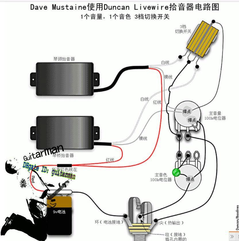 emg wiring diagram 81 85 home automation / active pickups for closed type electric guitar power ...