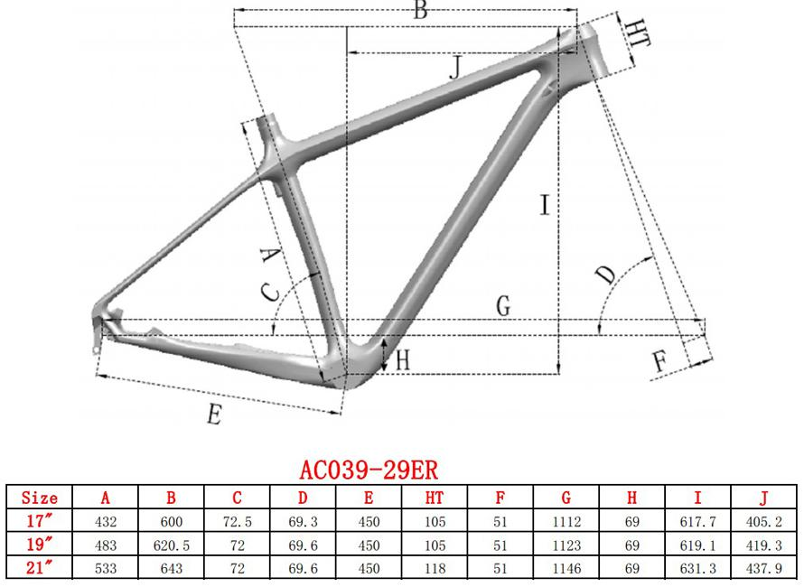 17.19.21 Inside Cable Route Design Full Carbon MTB