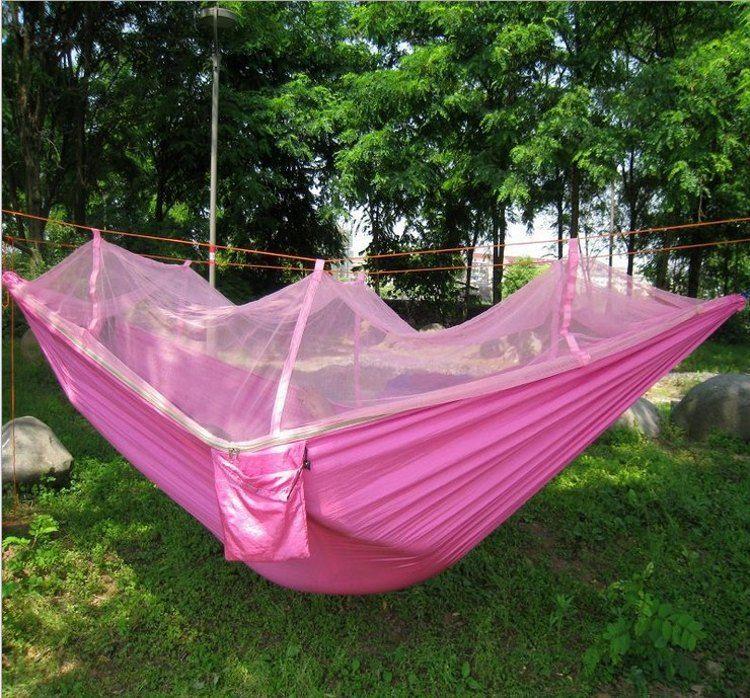 2019 New Nylon Hammock Mosquito Net Hammock Sleeping Bed