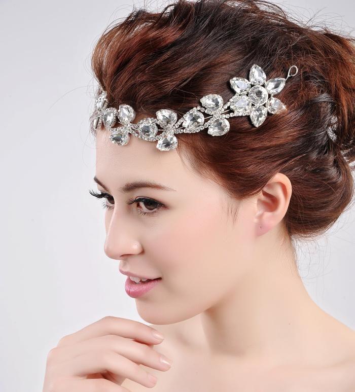 Stunning Shinny Crystal Fascinators Bridal Forehead